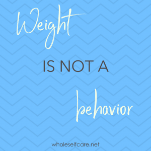 Weight is not a behavior