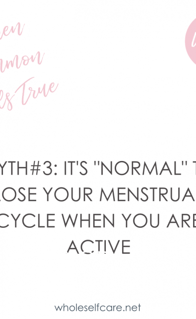 Loss of Period in Athletes/Active People